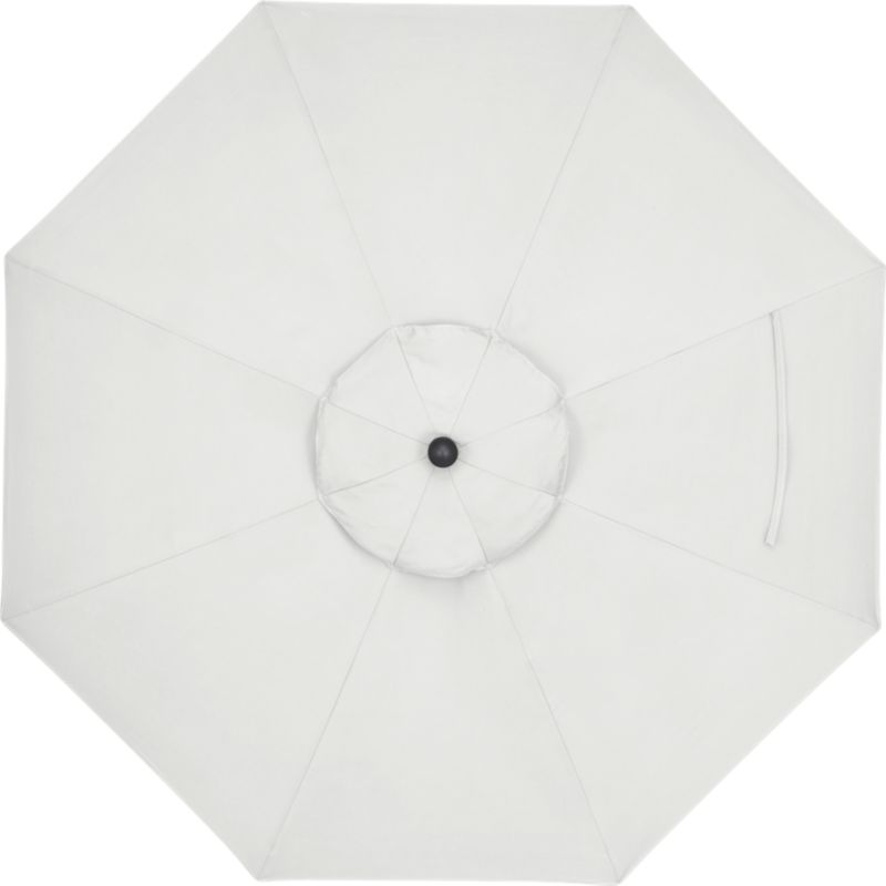 A neutral eggshell canopy in fade- and mildew-resistant Sunbrella® acrylic blocks out 98% of the sun's rays. Fits all of our 9' round frames. Frames and stands sold separately.<br /><br /><NEWTAG/><ul><li>Cover: fade- and mildew-resistant Sunbrella acrylic umbrella (fits all 9' round frames; spot clean)</li><li>Frames (sold separately): aluminum tilt with bronze or charcoal finish</li><li>Made in China</li></ul><br />
