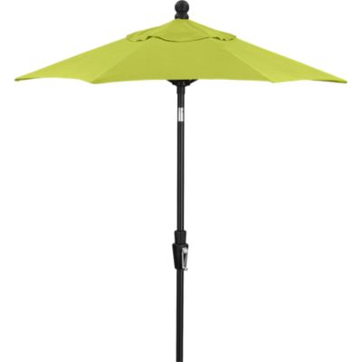 6 Round Sunbrella® Apple Umbrella with Black Frame