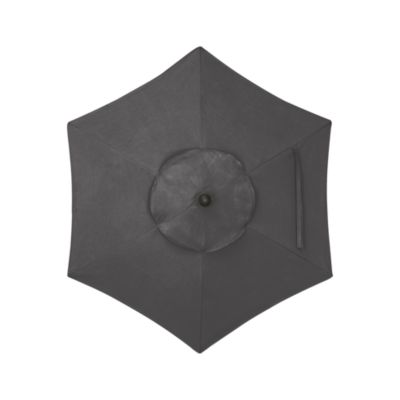 6 Round Sunbrella® Charcoal Umbrella Cover
