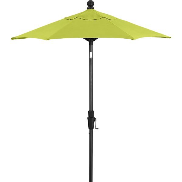 6' Round Sunbrella ® Apple High Dining Umbrella with Black Frame