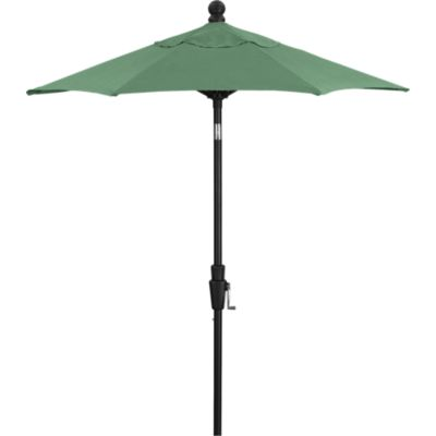 6' Round Sunbrella® Bottle Green High Dining Umbrella with Tilt Black Frame