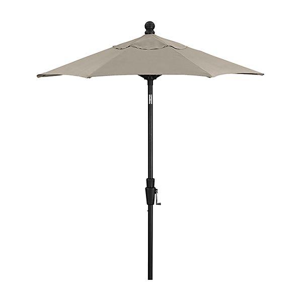 6' Round Sunbrella ® Stone High Dining Patio Umbrella with Tilt Black Frame
