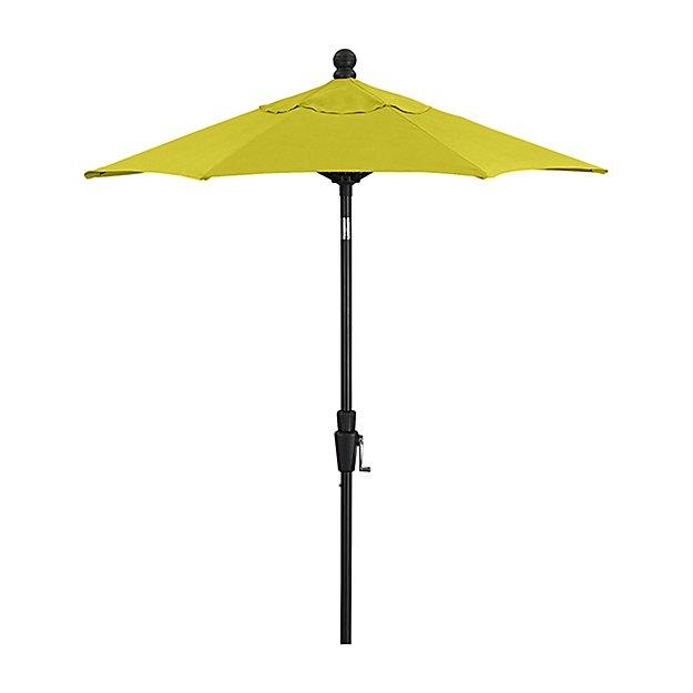 6' Round Sunbrella ® Sulfur High Dining Patio Umbrella with Tilt Black Frame