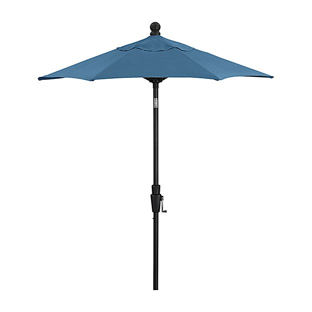 6' Round Sunbrella ® Turkish Tile High Dining Patio Umbrella with Tilt Black Frame