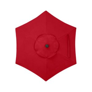 6' Round Sunbrella® Ribbon Red Umbrella Cover