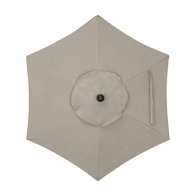 6' Round Sunbrella ® Stone Umbrella Canopy