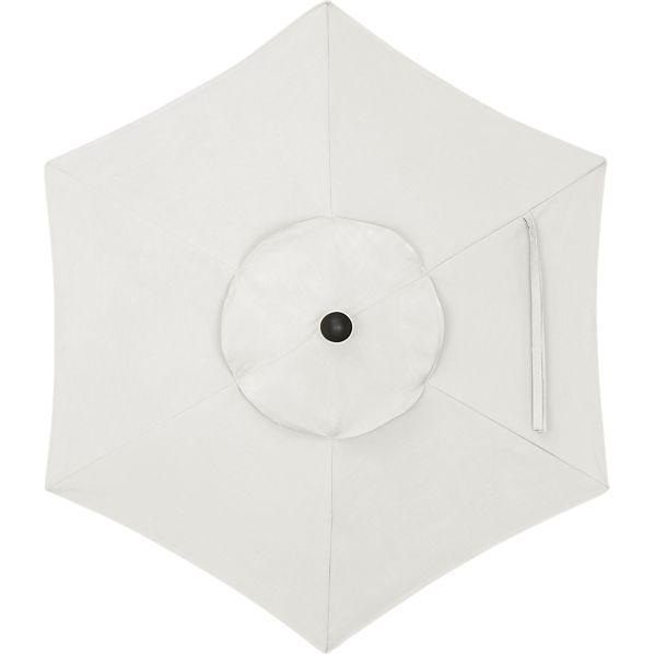 6' Round Sunbrella ® White Sand Umbrella Canopy