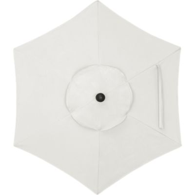 6 Round Sunbrella® White Sand Umbrella Cover