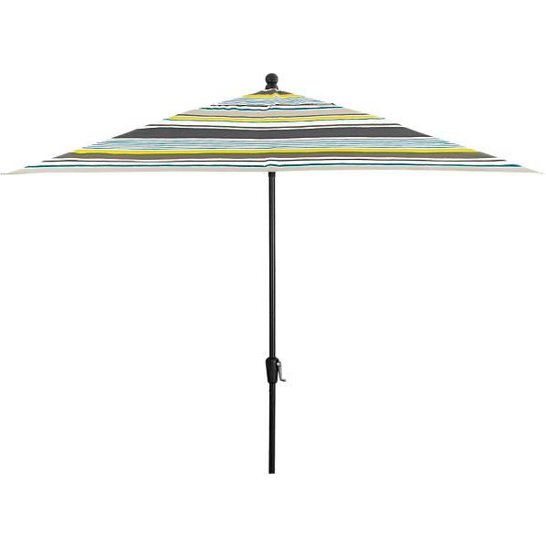 Rectangular Arroyo Umbrella with Black Frame