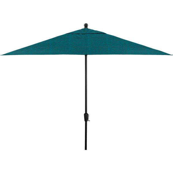 Rectangular Juniper Umbrella with Black Frame