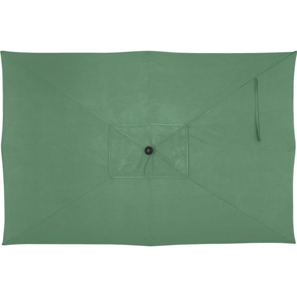 Rectangular Sunbrella ® Bottle Green Umbrella Cover