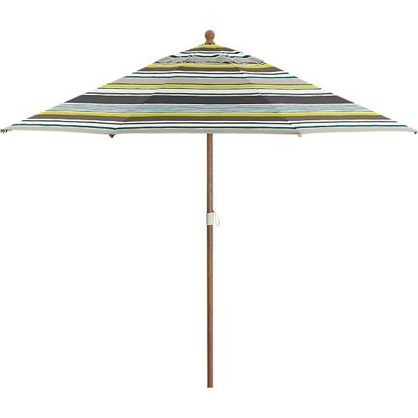 9' Round Arroyo Umbrella with Eucalyptus Frame
