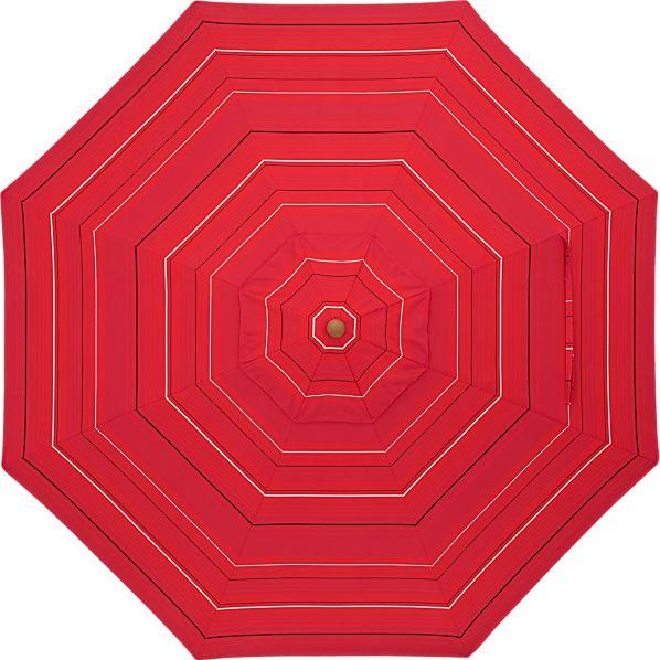 9' Round Sunbrella ® Red Tonal Stripe Umbrella Cover