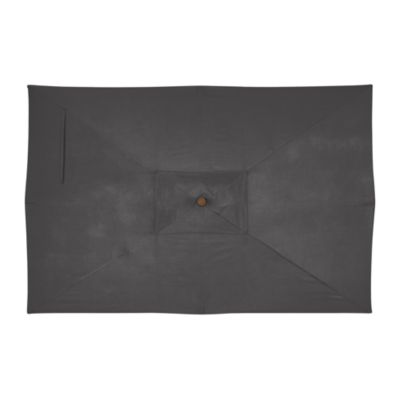Rectangular Sunbrella® Charcoal Umbrella Cover