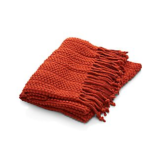 Marley Pumpkin Orange Throw