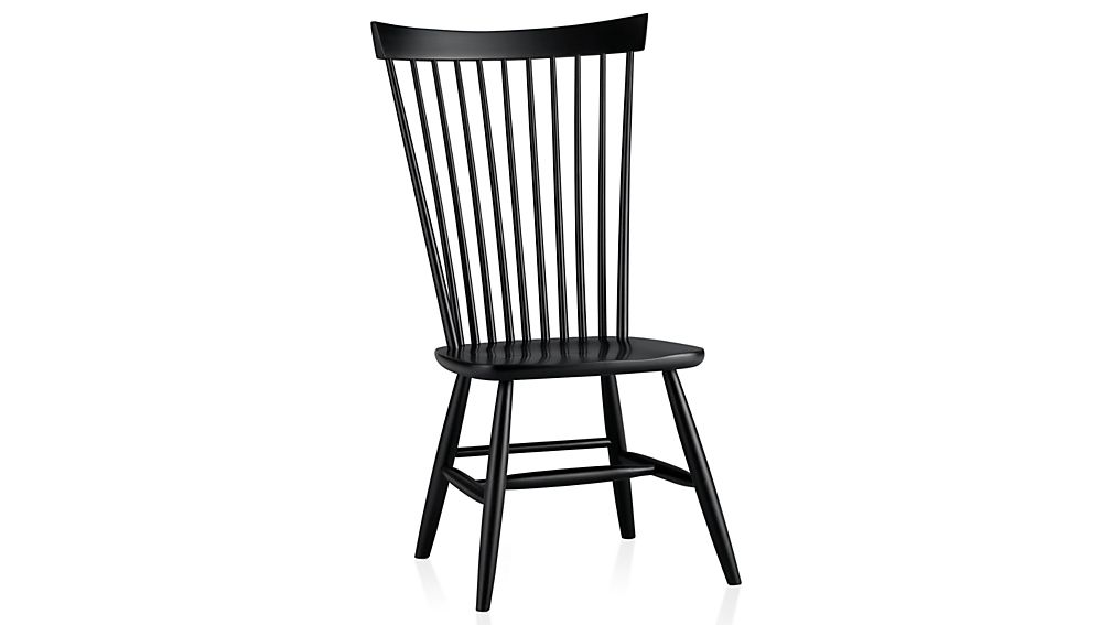 Marlow II Black Wood Dining Chair