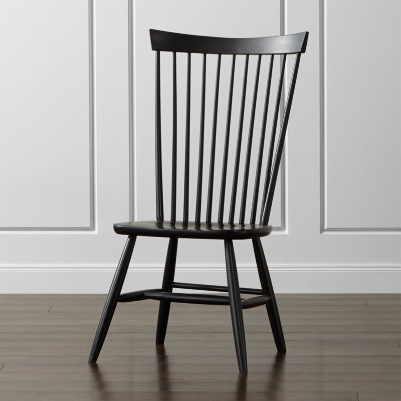 Crate And Barrel Dining Chairs: Marlow II Black Wood Dining Chair