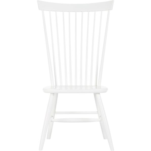 Marlow II White Side Chair