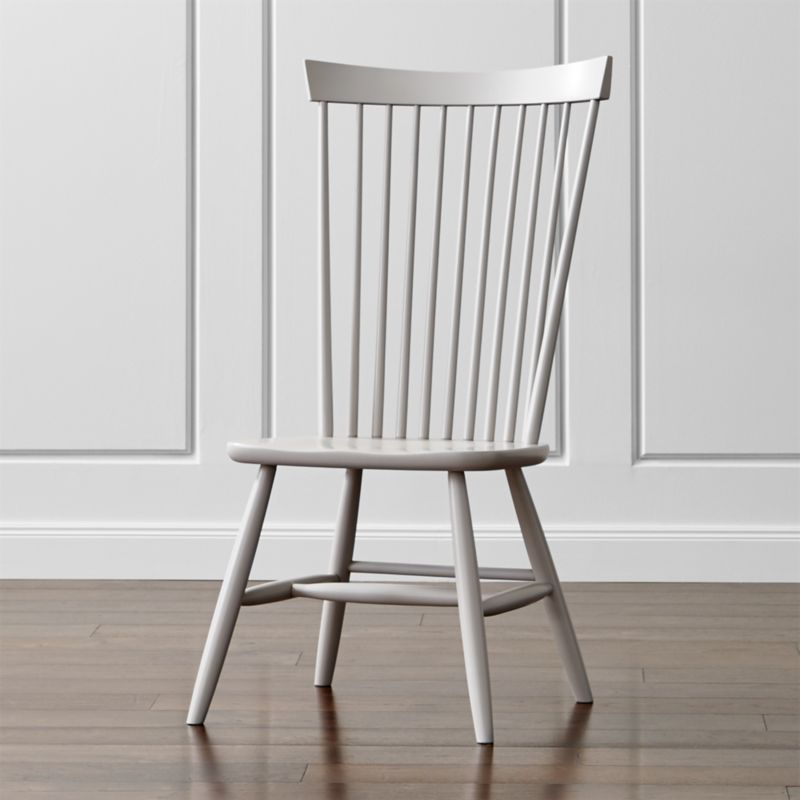 Crate And Barrel Dining Room Chairs: Marlow II Dove Wood Dining Chair