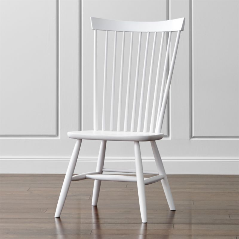 Marlow II White Wood Dining Chair