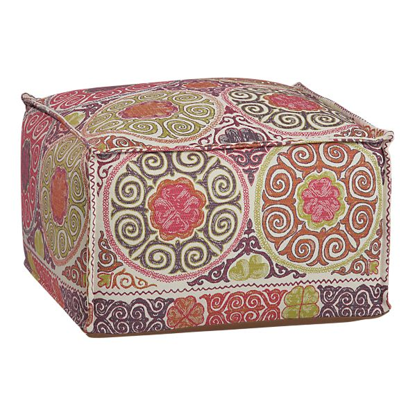 elegant nest square pouf ottomans. Black Bedroom Furniture Sets. Home Design Ideas