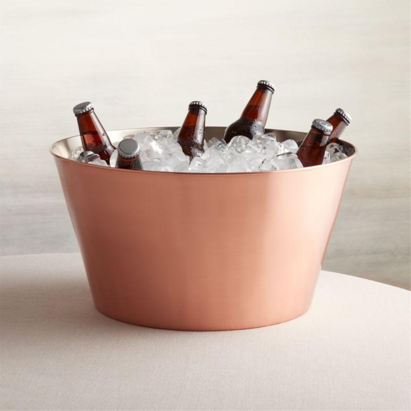 Martin Copper Beverage Tub Crate And Barrel
