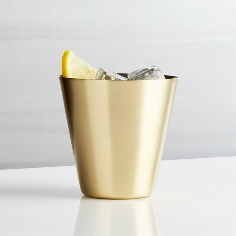 Martin Stainless Steel Cocktail Glass with Gold Finish
