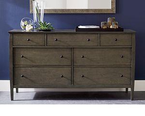 Mason 7-Drawer Grey Dresser