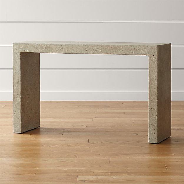 Crate And Barrel Concrete Dining Table Mason Console Table | Crate and Barrel