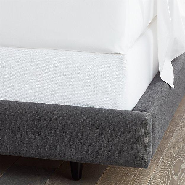 matelasse full box spring cover crate and barrel. Black Bedroom Furniture Sets. Home Design Ideas