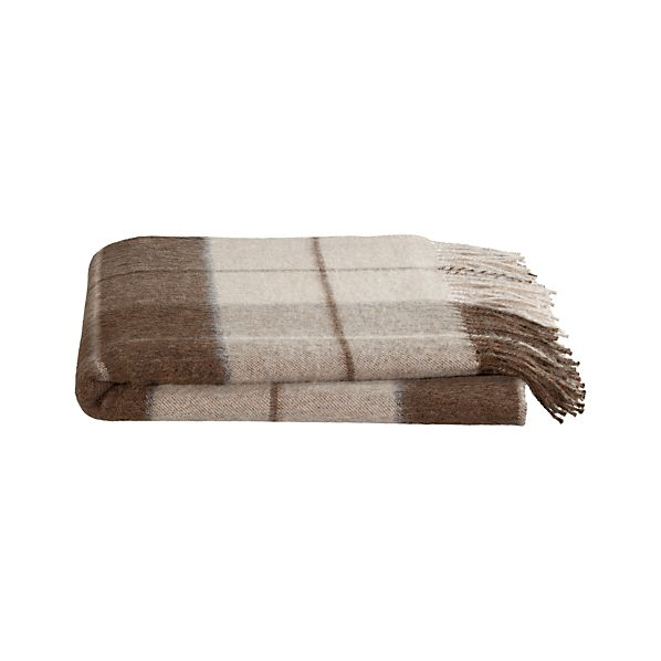 Mateo Plaid Alpaca Throw