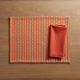 Matias Placemat and Fete Sienna Napkin