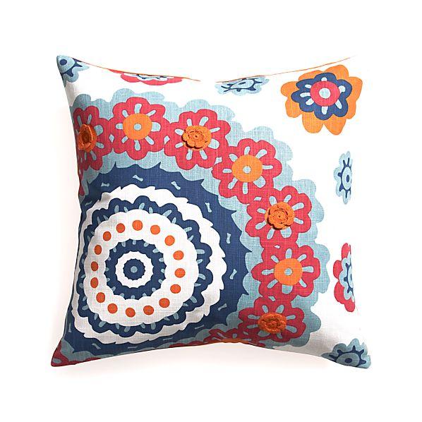 "Matilda 23"" Pillow with Down-Alternative Insert"