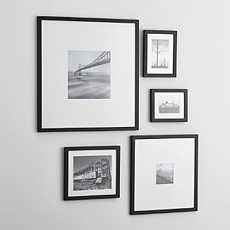 5-Piece Matte Black Picture Frame Set
