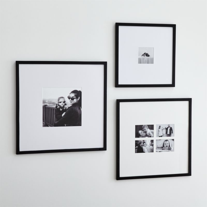 Matte Black Wall Frames Crate And Barrel