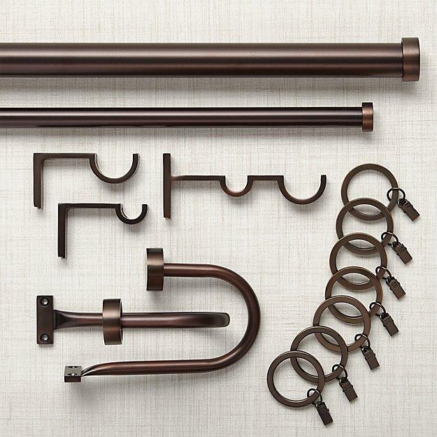 Matte Bronze Curtain Hardware