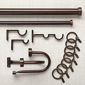 Matte Bronze Curtain Hardware