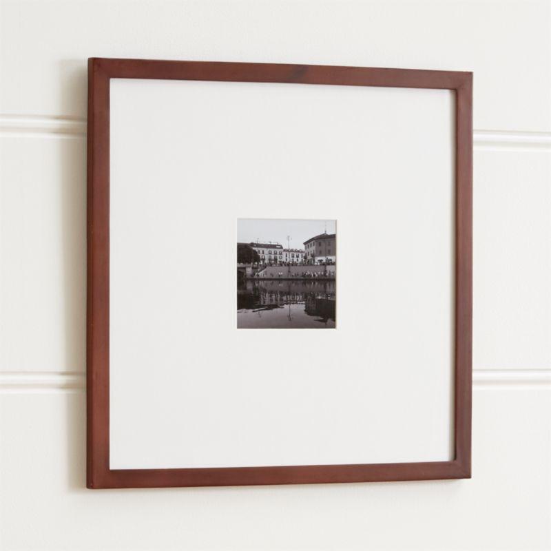 Matte Brown 5x5 Wall Frame