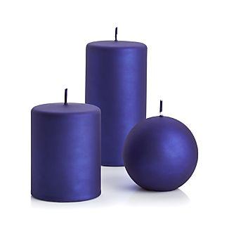 "Matte Indigo 3""x4"" Pillar Candle"