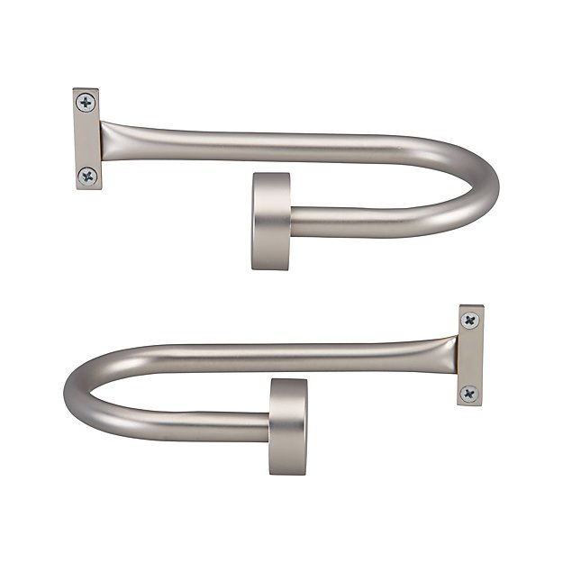 Set of 2 Matte Nickel Curtain Tie Backs