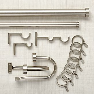 Matte Nickel Curtain Hardware