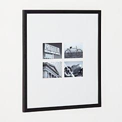 Matte Black Four 4x6 Wall Frame