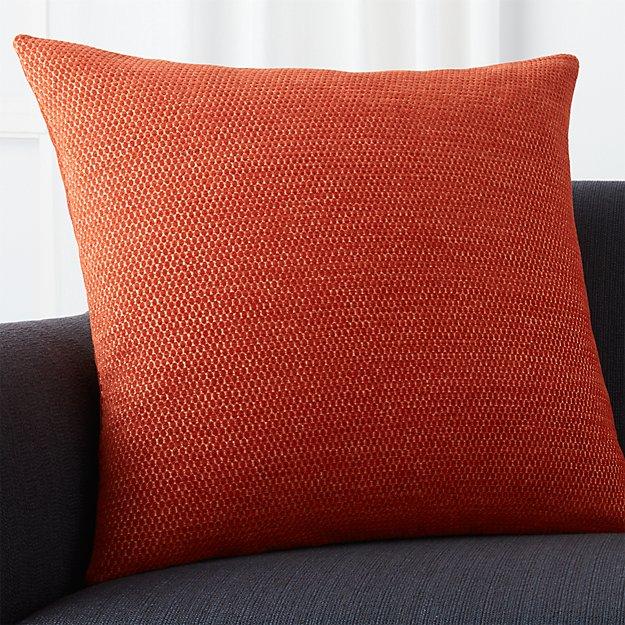 Orange Throw Pillows Crate And Barrel : Maura Orange 23