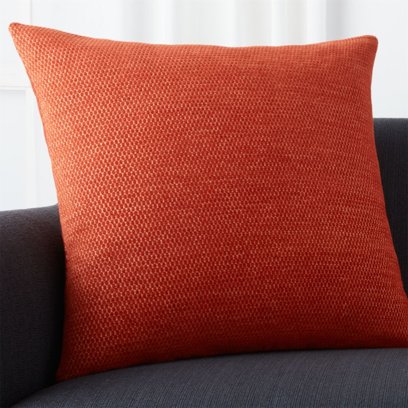 "Maura Orange 23"" Pillow with Down-Alternative Insert"