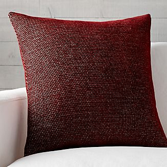 "Maura Red 23"" Pillow"