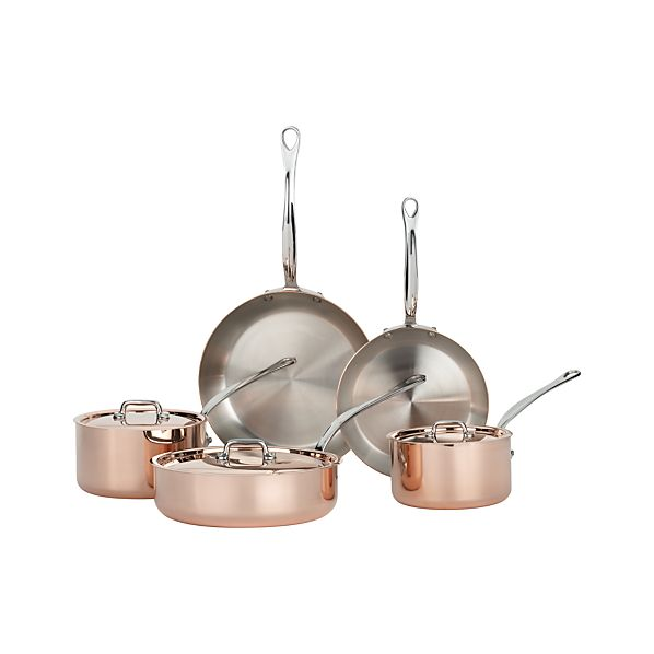 Mauviel M'heritage Copper 8-Piece Cookware Set
