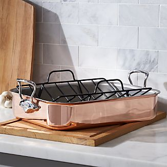 Mauviel ® Copper Roaster with Rack