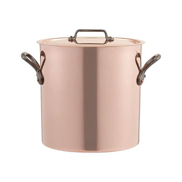 Mauviel M'Heritage Copper 11.7 qt. Stock Pot