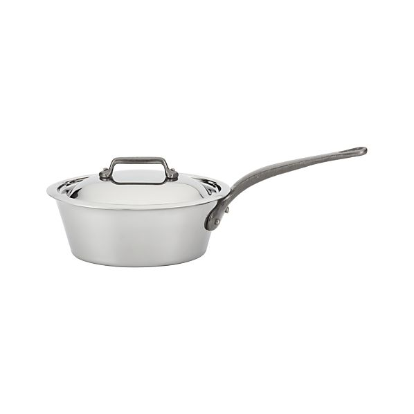 Mauviel M'cook Stainless-Steel 1.9-qt. Splayed Sauce Pan