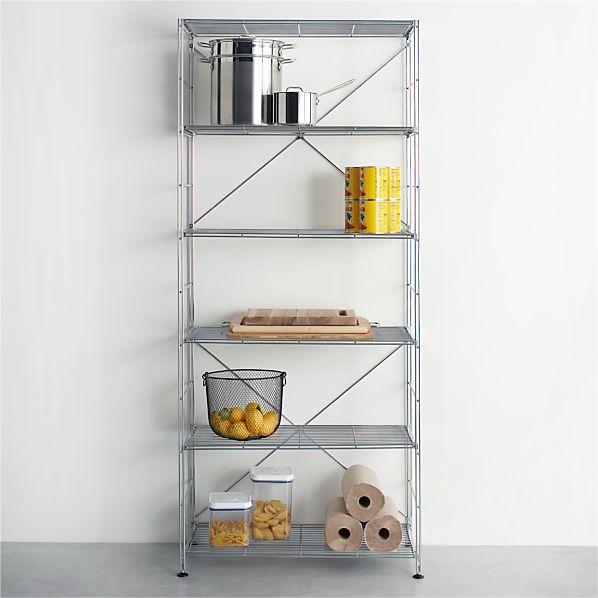 MAX Chrome Six-Shelf Unit